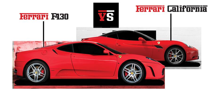 Pojedynek Ferrari F430 vs Ferrar California