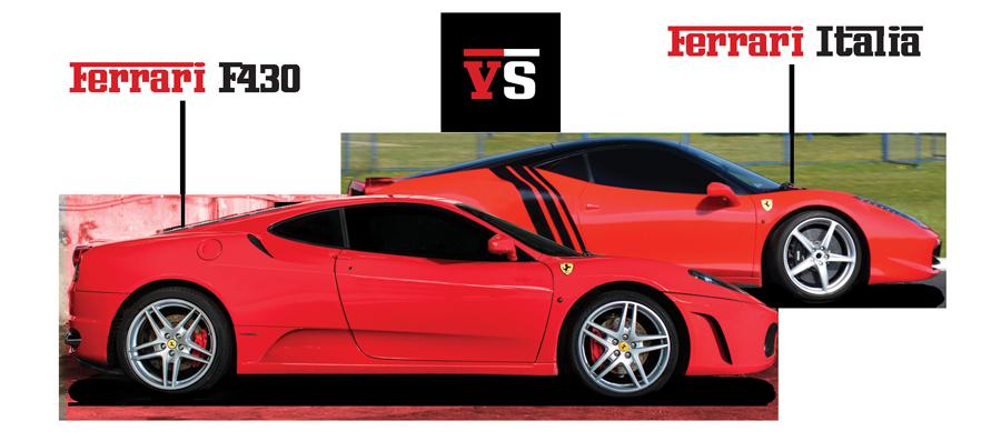 Pojedynek Ferrari Italia vs Ferrar F430
