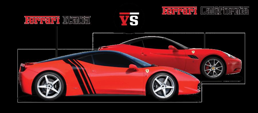 Pojedynek Ferrari Italia vs Ferrar California