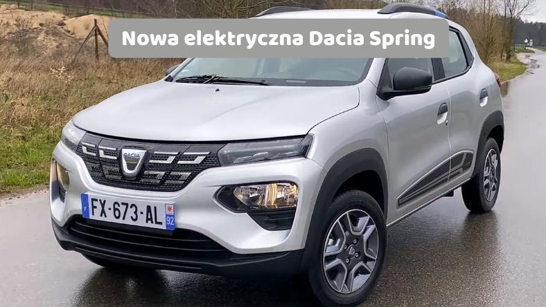 Nowa elektryczna Dacia Spring